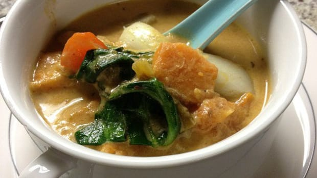 thai vegetable soup photo