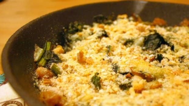 Winter Kale Casserole With White Beans and Fontina
