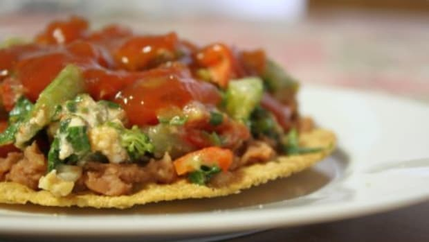 Vegetarian Taco Salad Recipe with Avocado, Fresh Herbs, & Salsa Vinaigrette by Kimberley Stakal