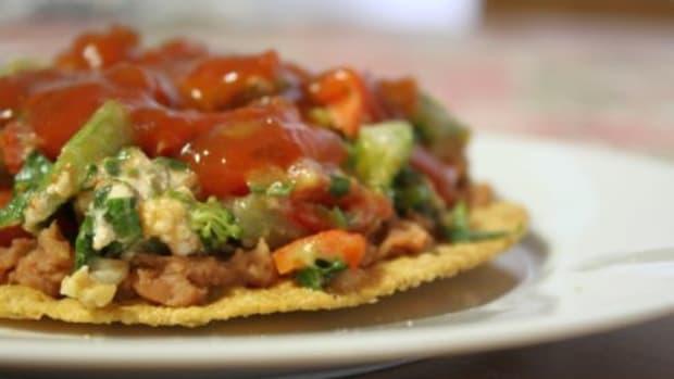 Vegetarian Taco Salad Recipe with Avocado, Fresh Herbs, & Salsa Vinaigrette by Kimberley Stakal