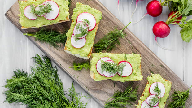 Vegan Avocado Toast with Radishes and Dill Recipe