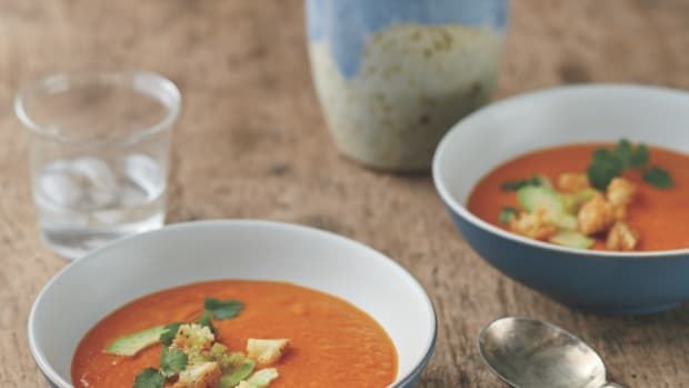 Golden Bell Pepper Soup Recipe