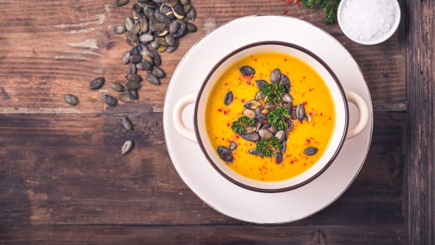 Carrot, turmeric, and ginger soup recipe