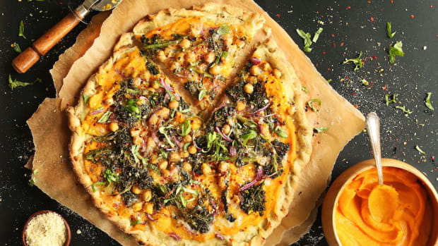butternut squash recipes - veggie pizza