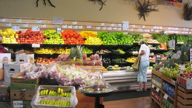 produce section in grocery store