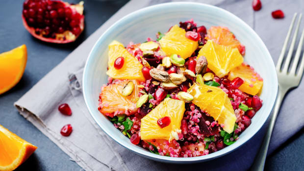 quinoa salad with oranges