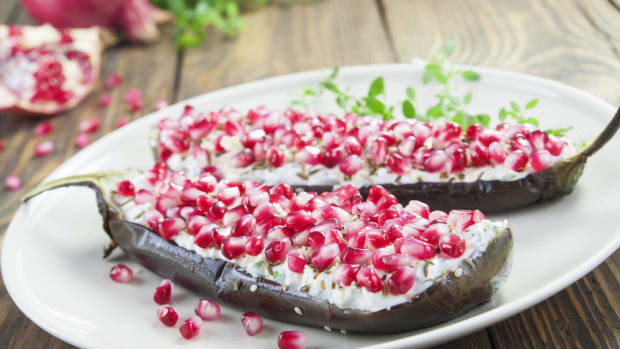 eggplant and pomegranate