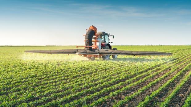 gmo crops being sprayed