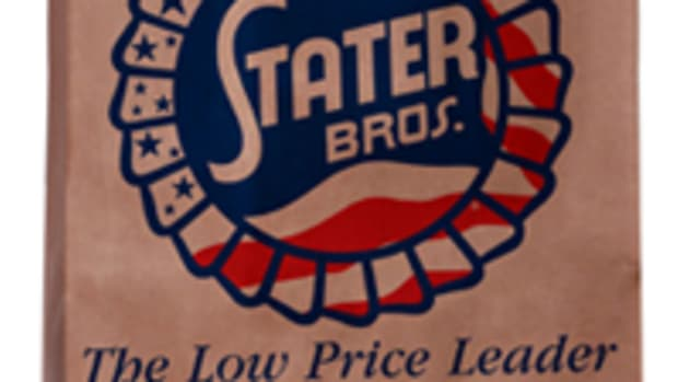 STATER BROS. MARKETS GROCERY BAG GREEN