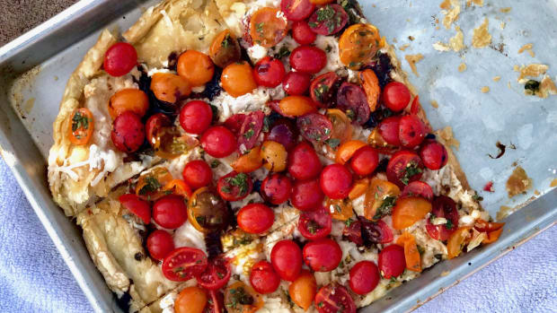 Rustic End-of-Summer Cherry Tomato Galette