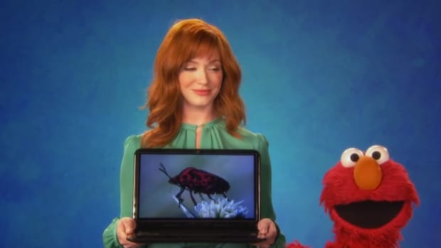 Watch Christina Hendricks on Sesame Street.