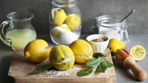 Ideas of using preserved lemons.