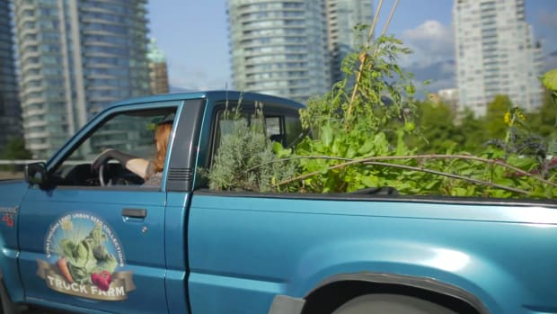 This truck is all about growing sustainable food.