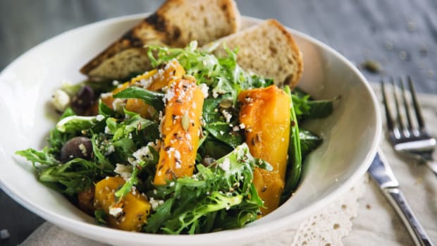 healthy salad recipes - pumpkin salad