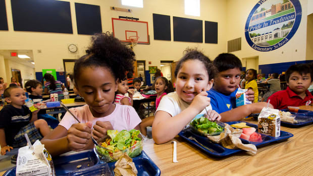 Schools are now feeding hungry kids and their families.
