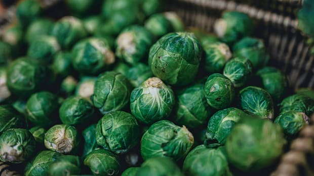 Brussels sprouts in a basket