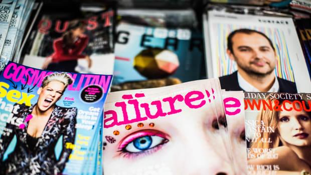 glossy women's magazines