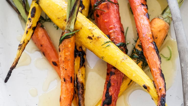 Grilled Carrots with Honey and Dill