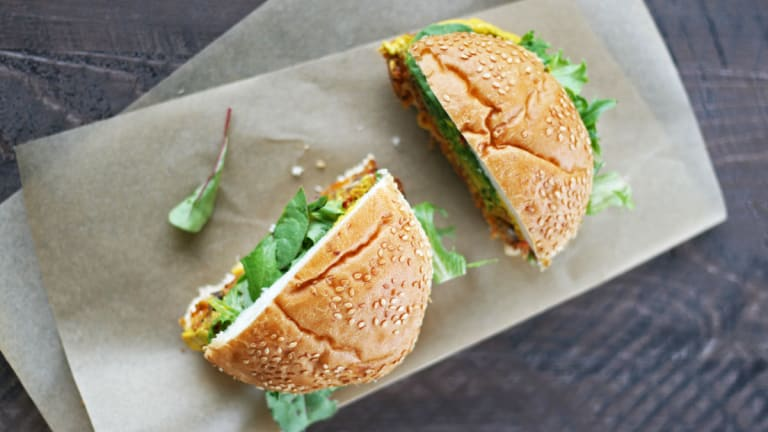 Spicy Quinoa and Black Bean Burger [It's All Veg]