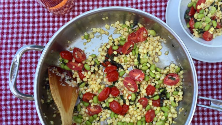 Sweet Corn Southern Summer Succotash Recipe With Pecorino