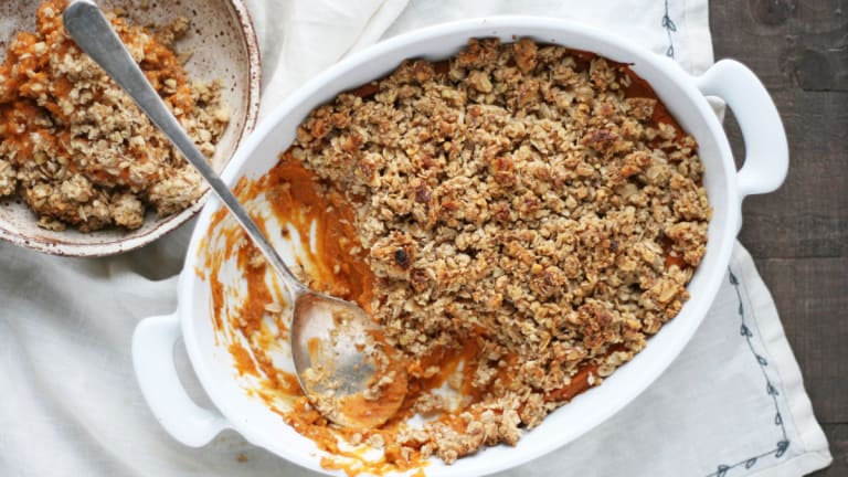 Gluten-Free Vegan Sweet Potato Casserole (AKA the Best Winter Side)
