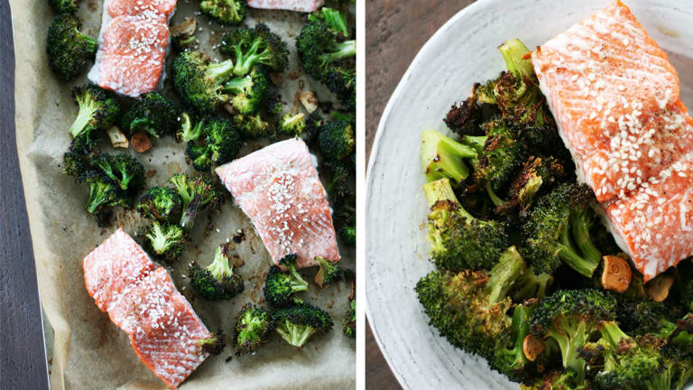 Asian Salmon With Broccoli: One Pan Wonder