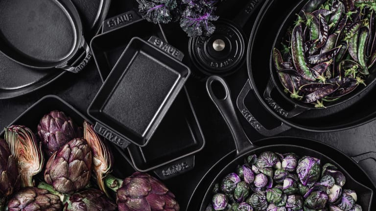 Staub's Clean Enameled Cast Iron Cookware Is as Beautiful as It Is Useful
