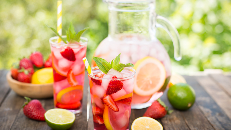 This Fruit Spritzer Recipe is Summer in a Glass