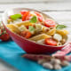 Cold Pasta Salad with Tomatoes, Green Beans, and Basil