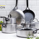"The Napa Collection boasts GreenPan's latest iteration of ceramic nonstick coating called Thermolon Diamond-Advanced. It's dishwasher (easy to hand wash), oven safe (up to 600°F), and metal utensil safe. If you are looking for a nonstick cookware set that is versatile and hardy while extremely easy to clean, then this is what you've been looking for. The core of this set is crafted from tri-ply stainless steel and is finished with GreenPan's Evershine finish, which prevents discoloration and stains that are common to stainless steel. Use code ORGANIC15 to get 15% off + FREE SHIPPING on orders over $39.99.Shop Now: Full Collection | 8"" & 10"" frying pan set 