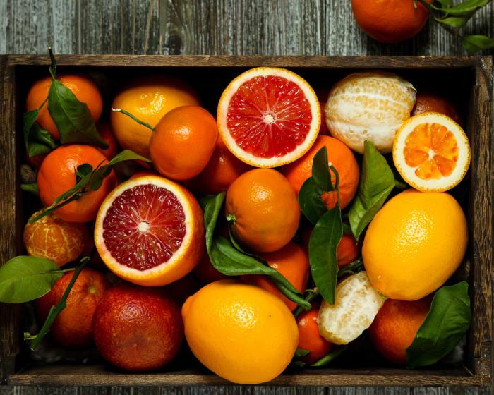 Winter citrus fruits