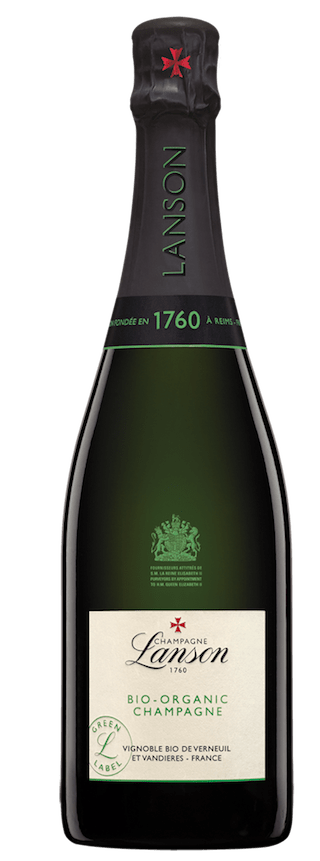 sparkling wine made with organic grapes