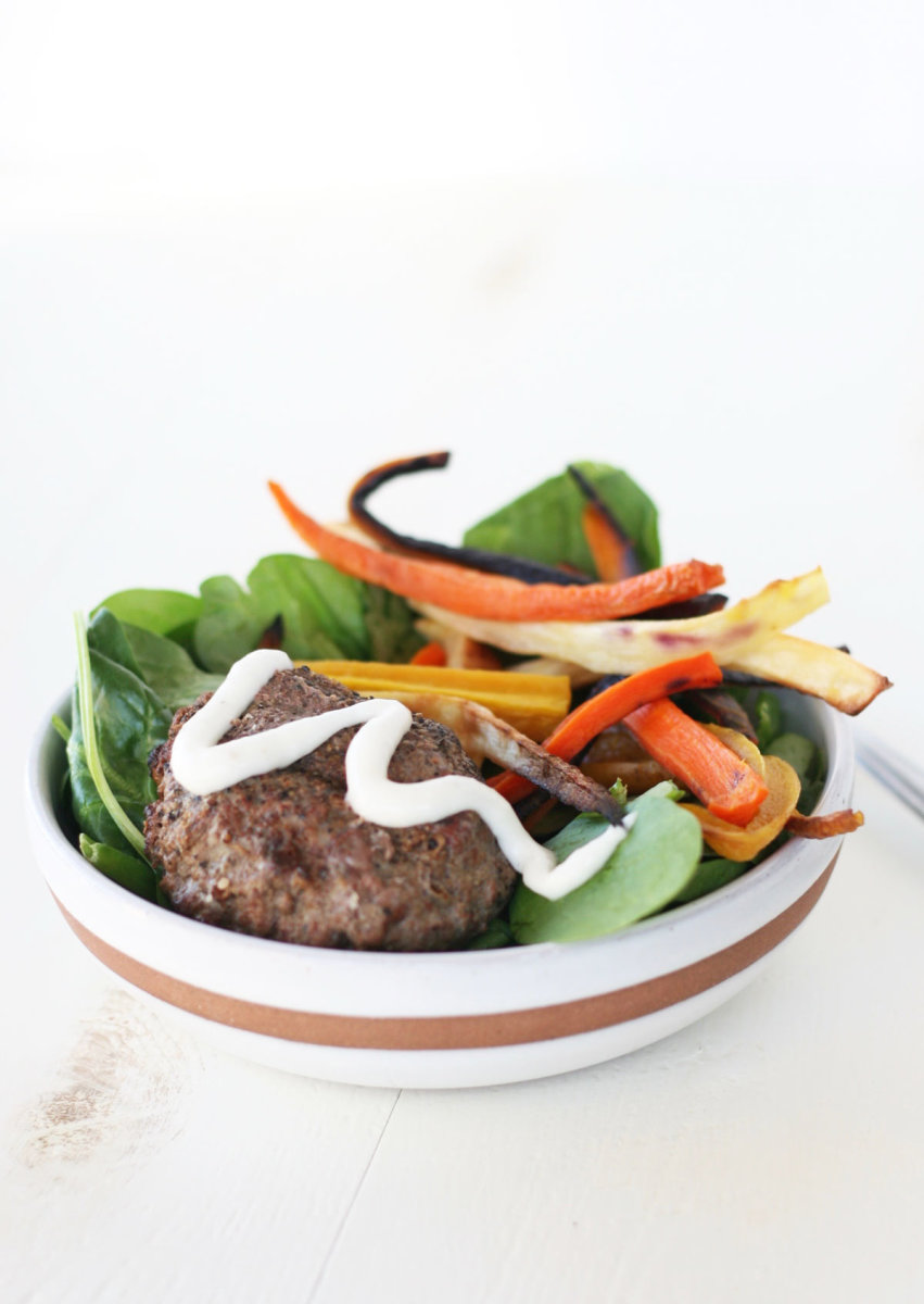 Paleo Grass-Fed Burger Bowls Recipe