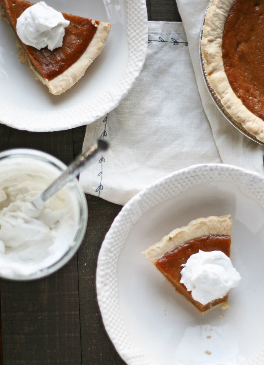 Homemade Paleo Pumpkin Pie with Maple Coconut Whipped Cream Recipe
