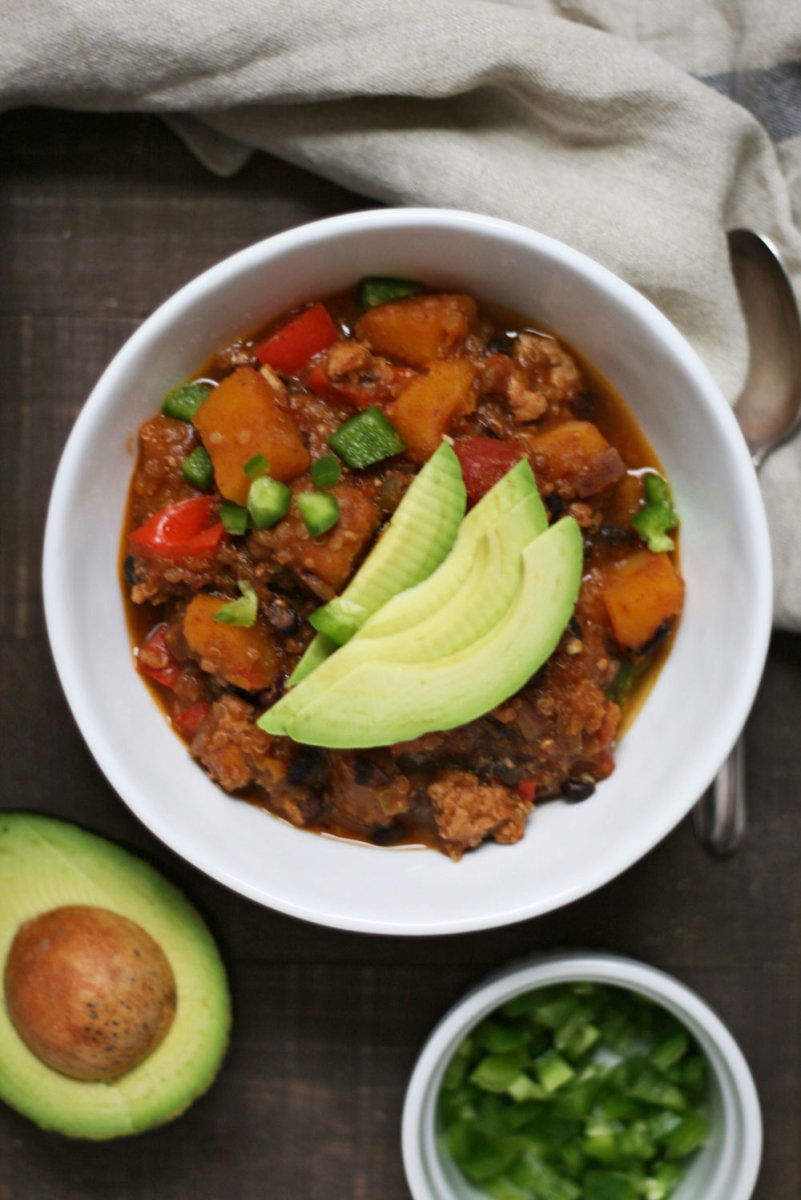 Butternut Squash and Turkey Chili Recipe (Autumn in a Bowl!)