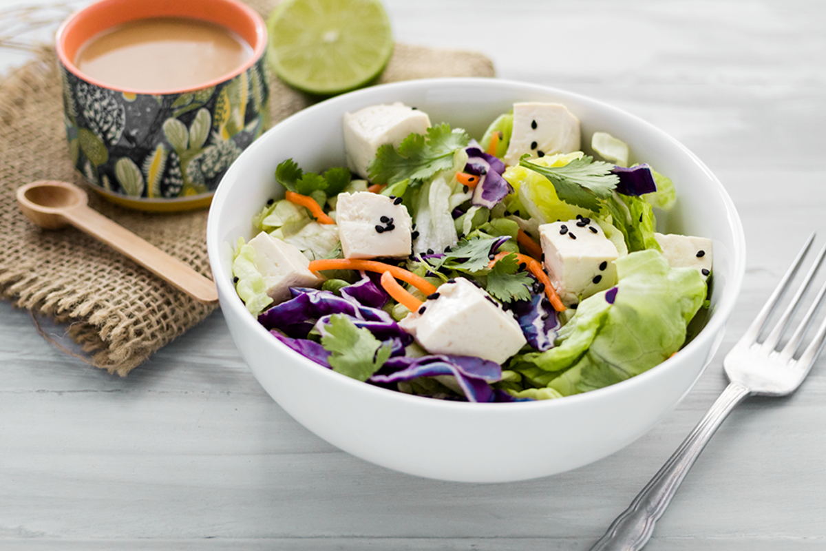 Vegan Thai Salad with Peanut Dressing