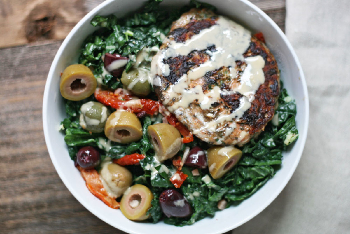 This Salmon Burger Recipe is a Match Made in Kale Salad Heaven