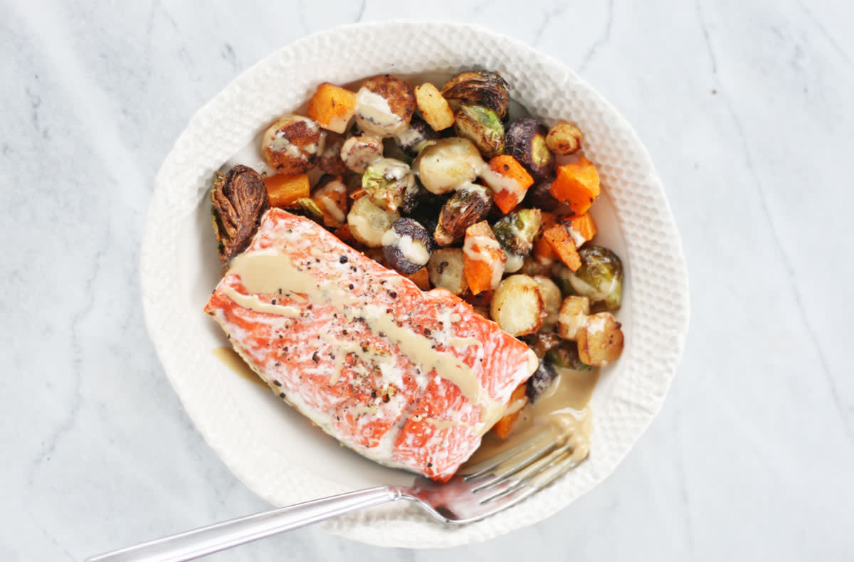 salmon one-pan dinner