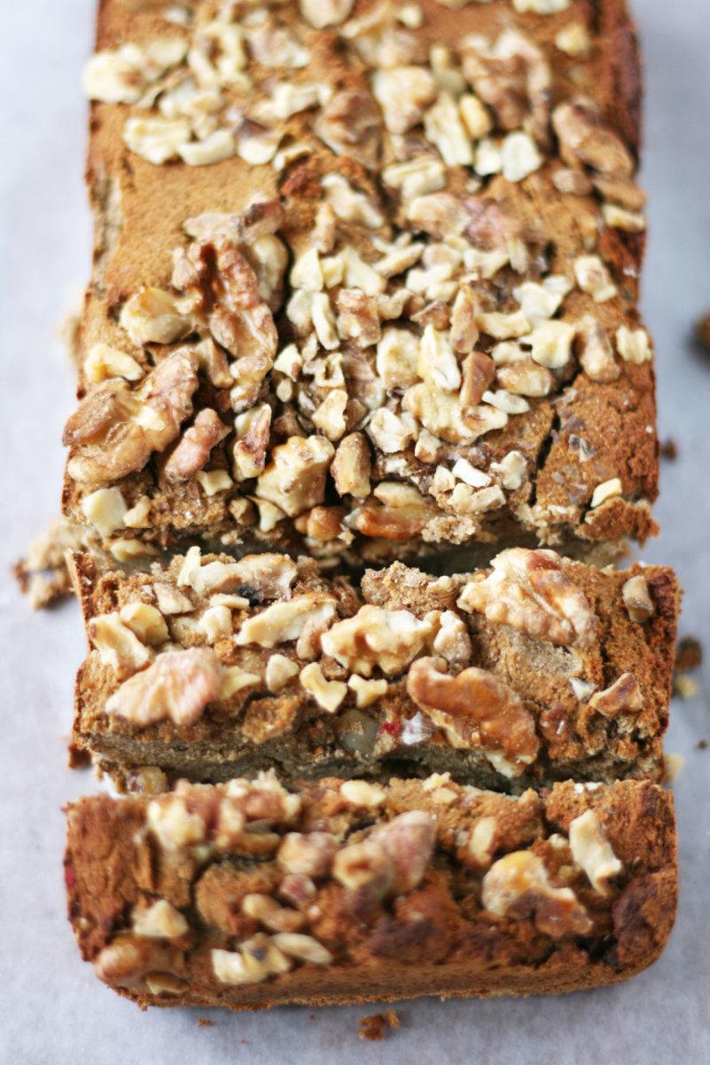 Coconut flour paleo banana bread with walnuts grain free goodness forumfinder Gallery