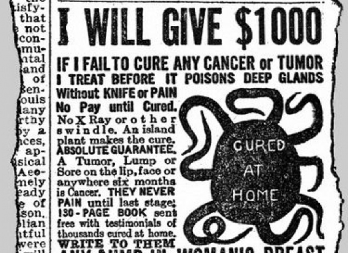Fake cancer treatment ad