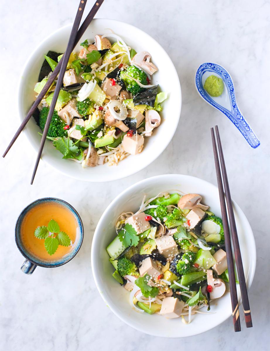 Vegan Sushi Salad with Tofu