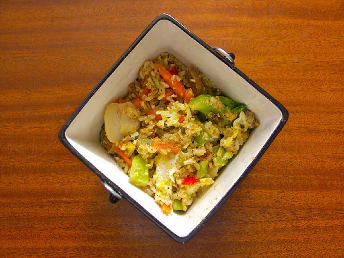 vegetable fried cauliflower rice photo