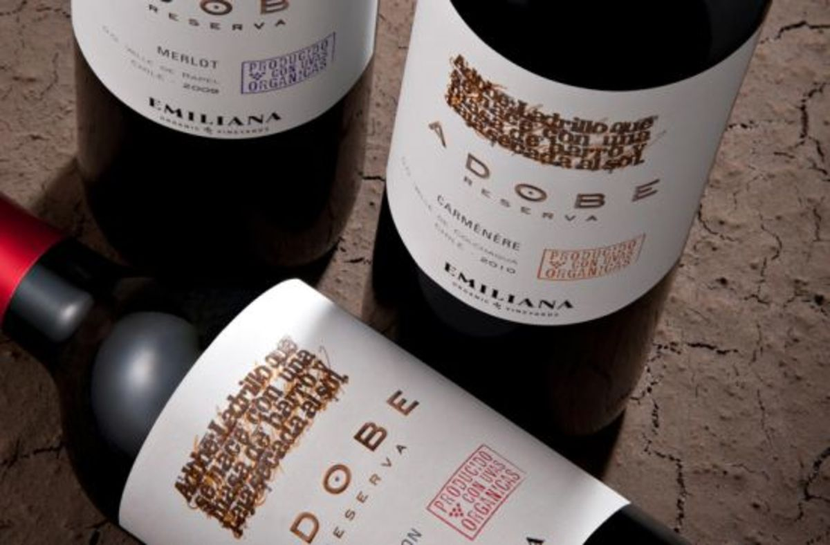 Emiliana wine bottles