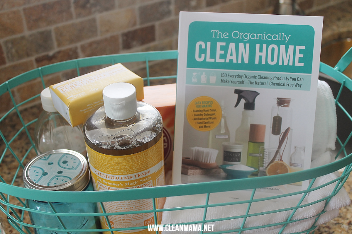 Book and natural cleaning supplies