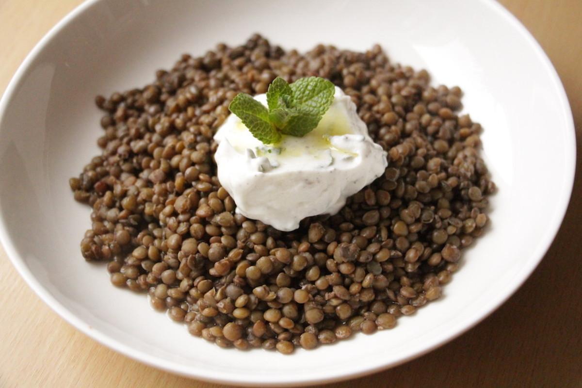 Puy Lentils with Minted Yogurt Recipe
