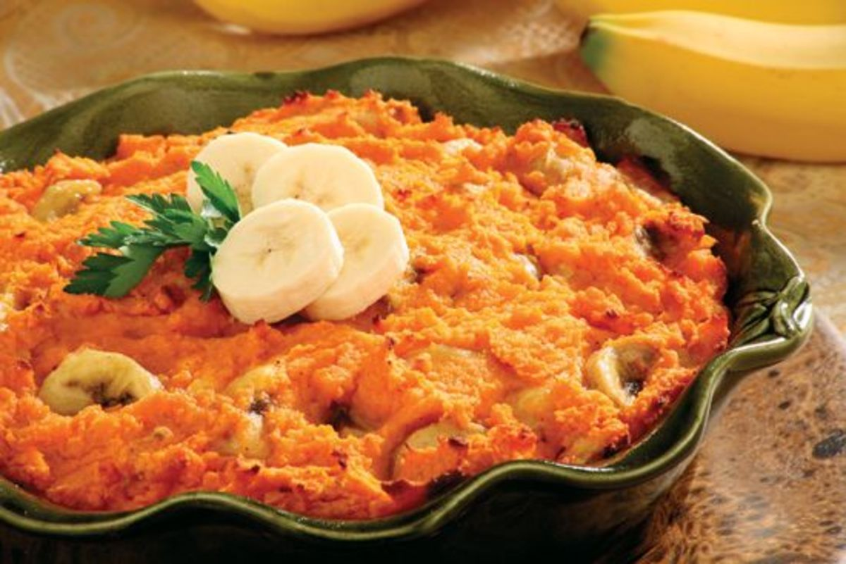 Caribbean Sweet Potato Bake