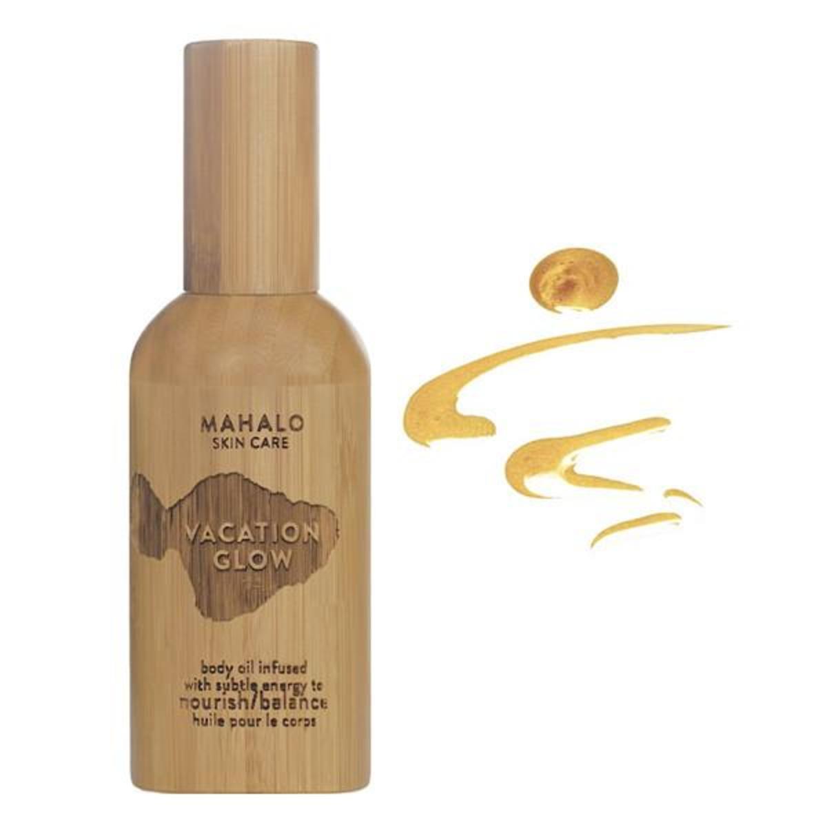 shimmering body oil