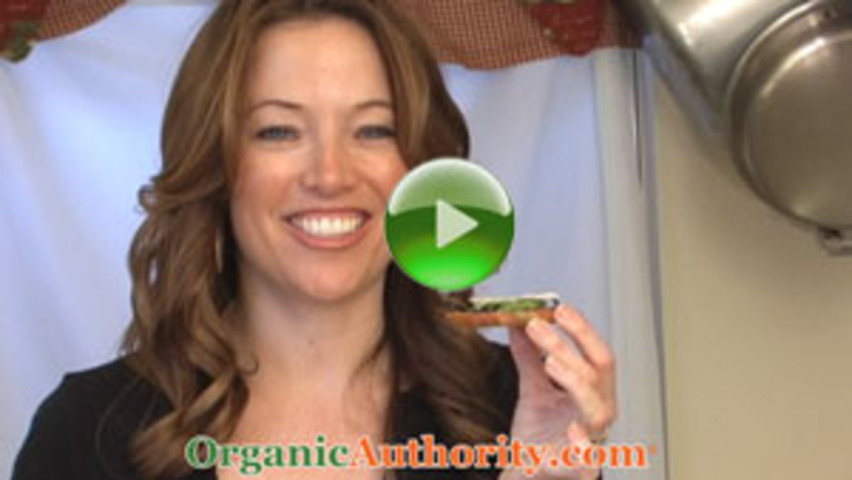 Organic Arugula Fava Bean Bruschetta Recipe