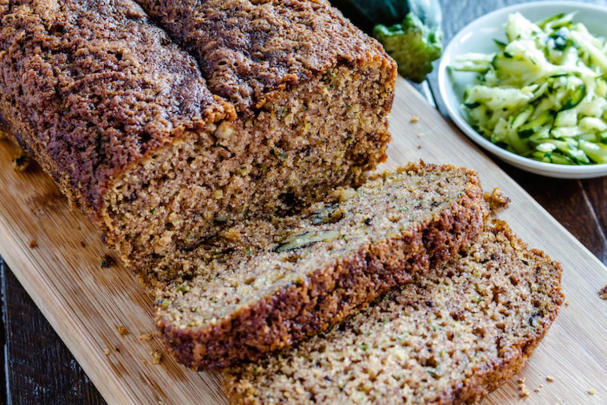 Sugar-Free, Gluten-Free, Vegan Chocolate Chip Zucchini Bread Recipe