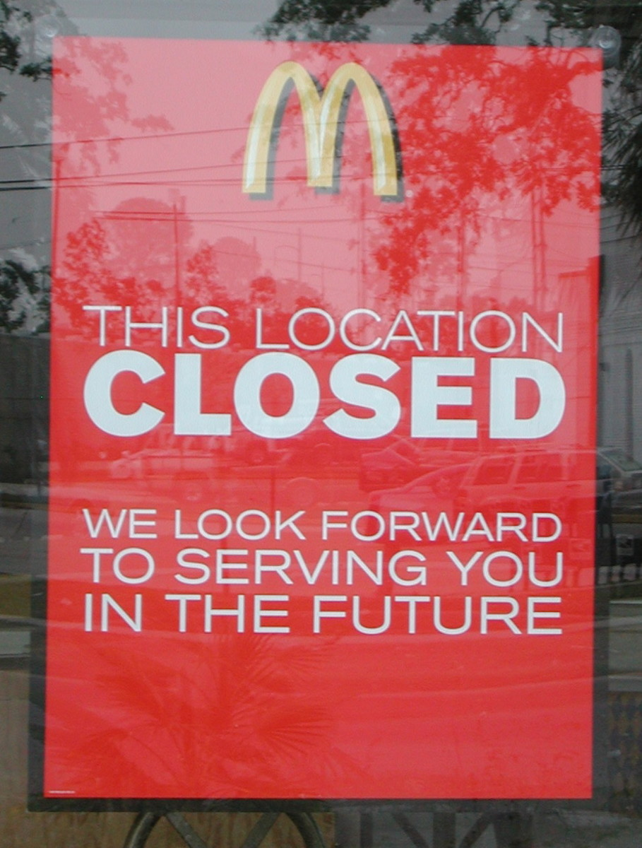Want a Good-Bye With That? McDonald's Closing Hundreds of Stores Amid Slumping Sales